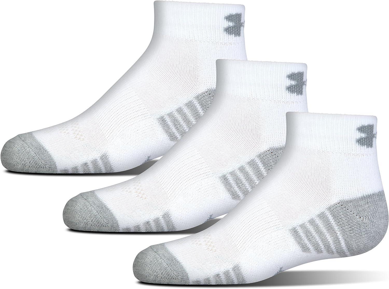 Under Armour Youth HeatGear Tech Low Cut Socks, 3-pairs