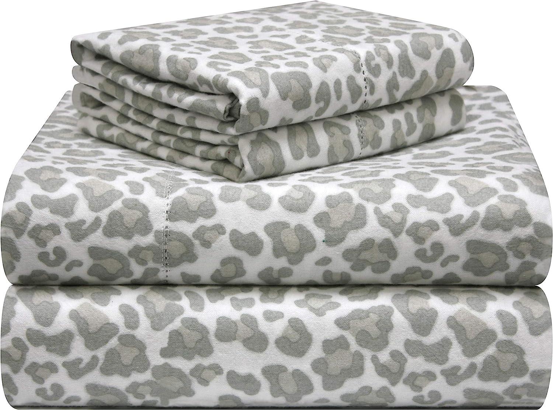 pointehaven Sheet Set Twin XL Bunnies Flannel