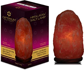 Himalayan Large Natural Glow Hand Carved Crystal Salt Lamp Rock Salt Lamp, UL Listed Dimmer Cord, Bedroom Night Light, Desk Lamp with Natural Healing & Ionizing Benefits
