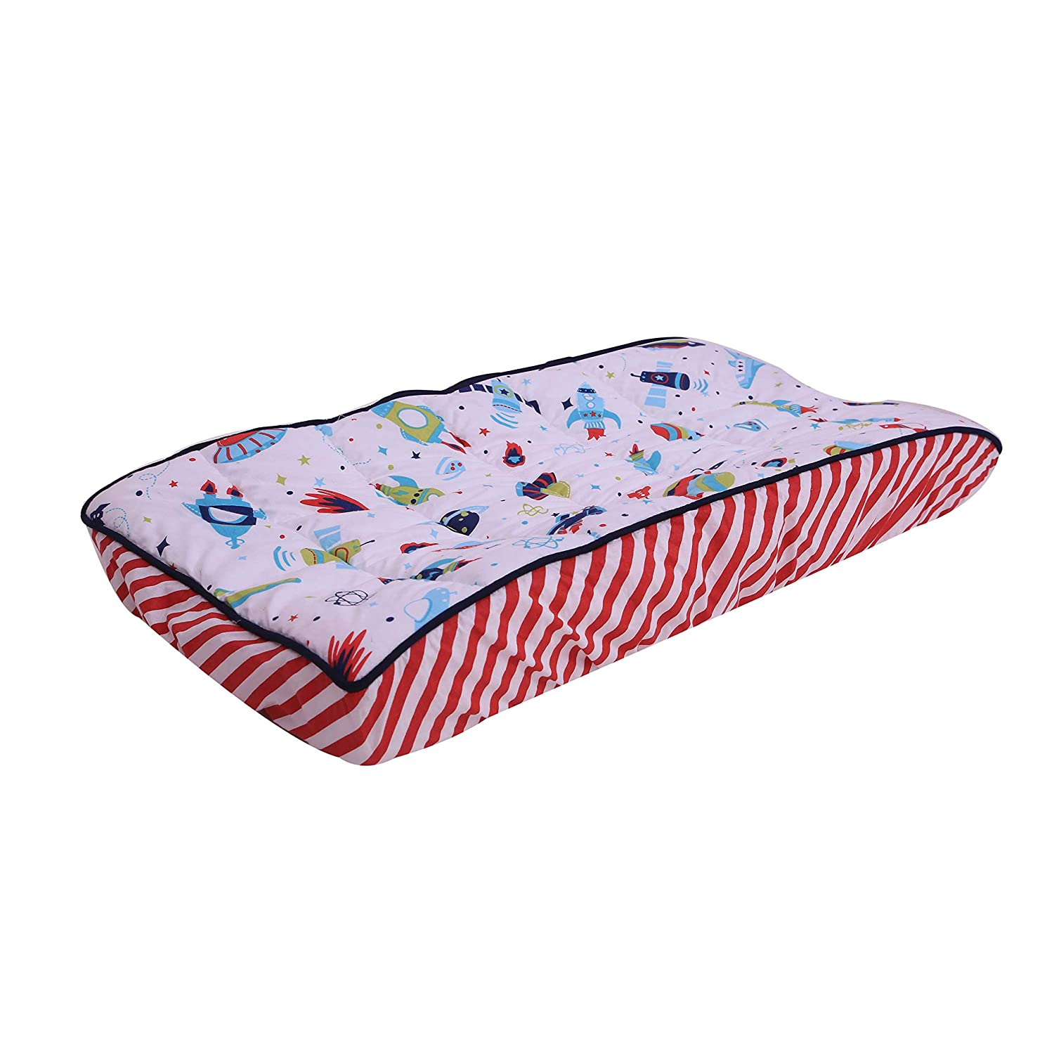Bacati Space Multicolor Boys Cover Time sale Changing Pad At the price Cotton