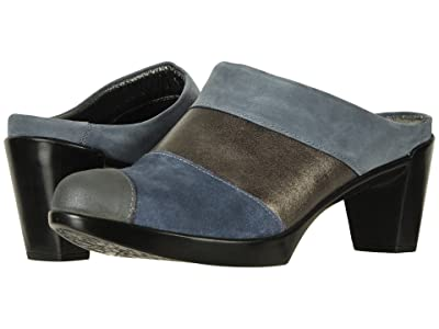 Naot Fortuna (Feathery Blue Nubuck/Gray Shimmer Leather Combo) Women