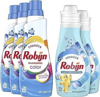Robijn Morgenfris Wasmiddel en Wasverzachter - 60 Wasbeurten