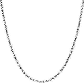 mens white gold necklace with pendant