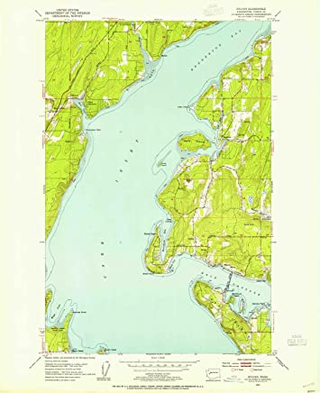 Historical 1:24000 Scale 1997 7.5 X 7.5 Minute 26.9 x 22 in YellowMaps Gig Harbor WA topo map Updated 2003