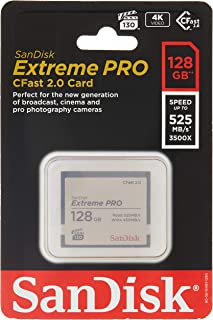 Sandisk Extreme Pro - Flash memory Card - 128 GB - CFast 2.0 - Silver (SDCFSP-128G-A46D)