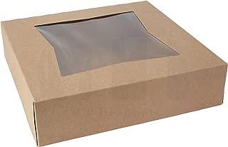 MT Products Kraft Paperboard Auto-Popup Window Pie/Bakery Box, 9
