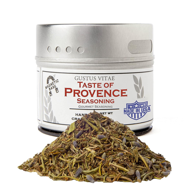 Taste of Provence - Gourmet Seasoning - Salt Free - Artisanal Spice Mix - Non GMO- Magnetic Tin - Small Batch