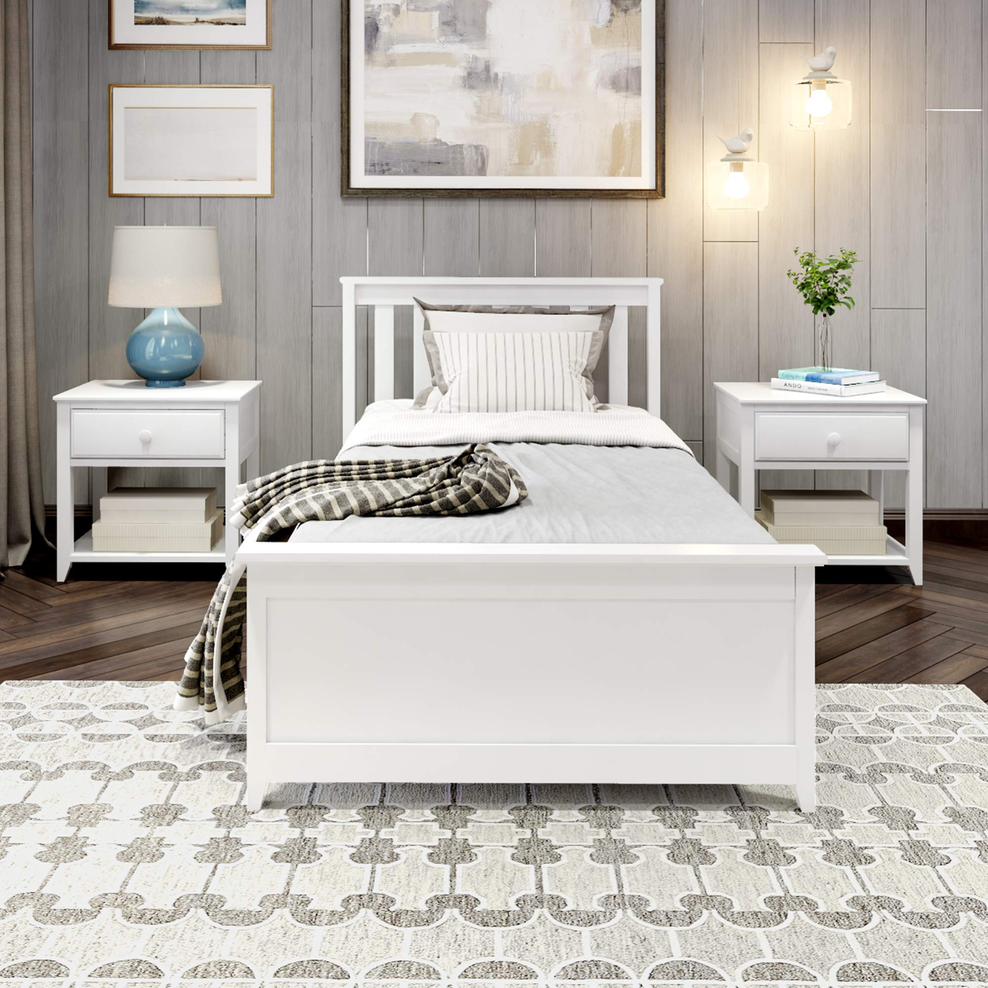 Sponsored Ad - Plank+Beam Traditional Bed, Twin, White