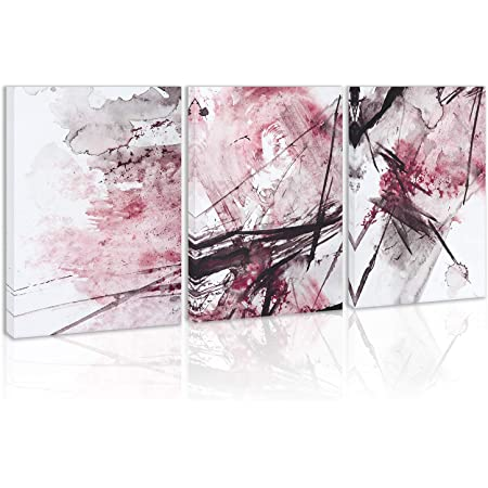Large square abstract canvas print Pink and peach abstract wall art Abstract modern minimalist wall art in pretty pink and orange.