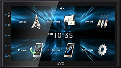 JVC KWM150BT Car Digital Media Player – Double Din, Bluetooth Audio and Calling, 6.8 Inch LCD Clear Resistive Touchscreen, MP3 Player, WMA, USB, SD, Auxiliary Input, AM/FM Radio, Short Chassis