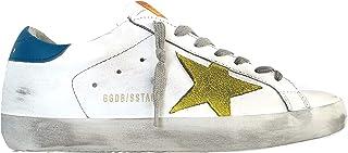 Golden Goose Scarpe Sneakers Uomo Vintage Superstar G36MS590.U74 Bianco Blu Giallo