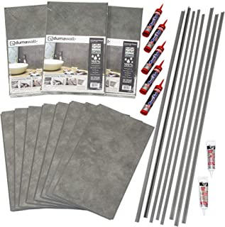 DumaWall Shower and Tub Surround Kit (Smoked Steel)