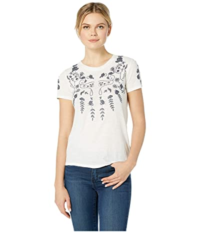 Lucky Brand Floral Tee (Marshmallow) Women