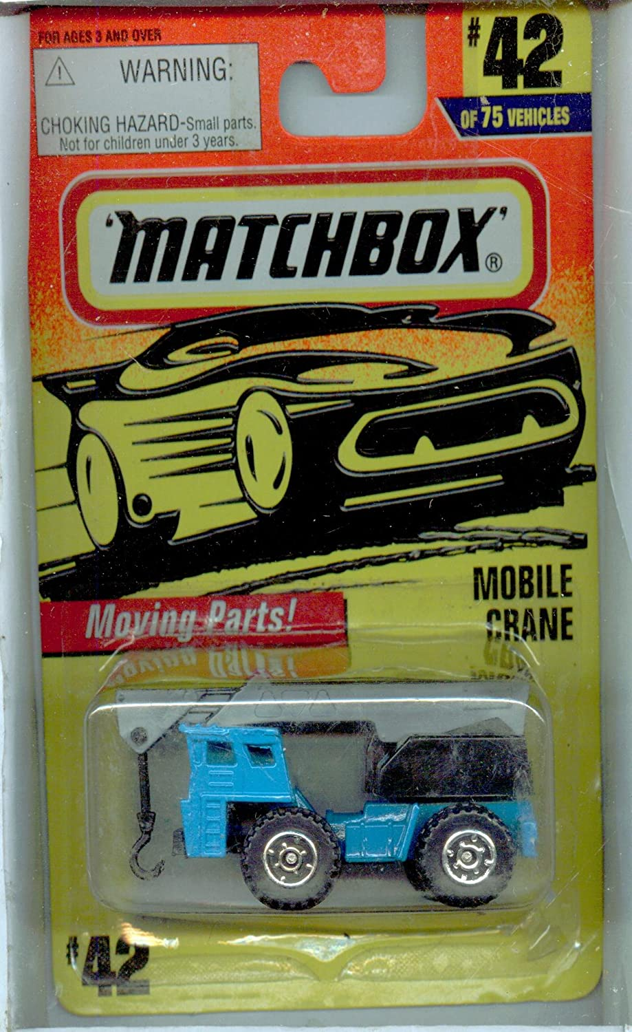 Matchbox 199742 75 blueeE Mobile Crane 1 64 Scale by Matchbox
