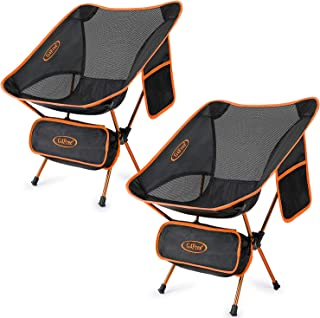 G4Free Lightweight Camping Folding Camp Chairs for Backpacking Picnic Beach Festival Hiking