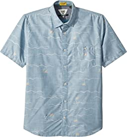 Palmere Short Sleeve Woven Top (Big Kids)