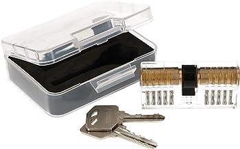 KOTARBAU® Lockpicking-set, transparante profielcilinder, trainingsslot, oefenslot voor het oefenen van noodopenen van sloten