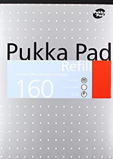 Pukka Pad A4 Punched 4 Hole Ruled Feint and Margin Refill Pad - White (160 Pages) - 1 Pack of 6 pads