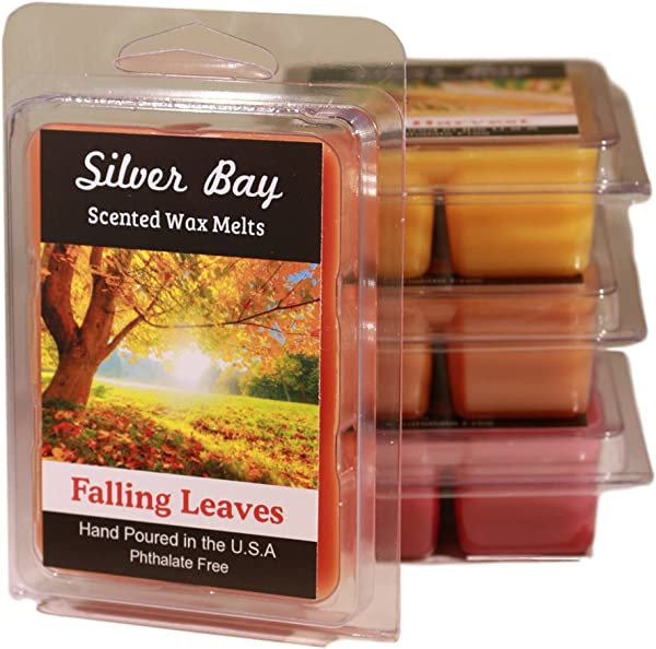Silver Bay Fall 4 Pack Double Scented Wax Melts A Fantastic Autumn Variety Including Pumpkin Spice Falling Leaves Fall Harvest And Macintosh