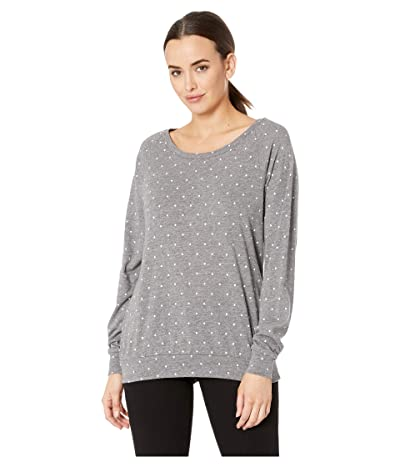 Alternative Printed Slouchy Pullover (Eco Grey Pin Dot) Women
