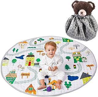 Winthome Tapis de Jeu Tapis d'Éveil Pliable Multi-fonction Organisateur de Jouets pour Bébé Enfant Tout-petit Motif Cartoo...