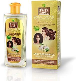Aceite para el cabello First Lady con ajo y hierbas (