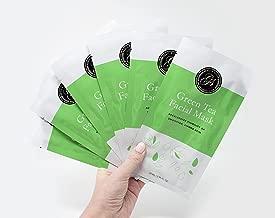 Full Face Essence Facial Sheet Masks by Grace & Stella Co. (Green Tea)