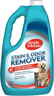 Simple Solution Pet Stain and Odor Remover | Enzymatic Cleaner with 2X Pro-Bacteria Cleaning Power
