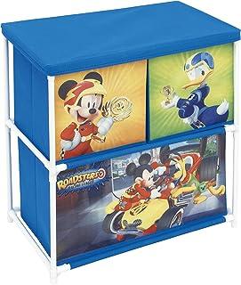 ARDITEX Meuble de Rangement en métal avec 3 Compartiments en Polyester sous Licence Mickey Mouse Dimensions: 53x60x30cm, 5...