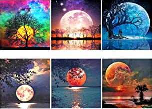 XPCARE 6 Pack 5d Diamond Painting Kits Full Drill Rhinestone Moon Diamond Pictures for..