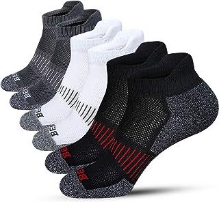 BERING Men's Performance Athletic Low Ankle Running Socks (6 Pack)