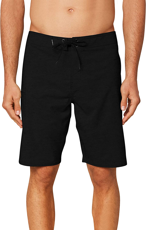 O'NEILL Men's Water Resistant Hyperfreak Stretch Swim Boardshort, 20 Inch Outseam | Mid-Length Swimsuit |