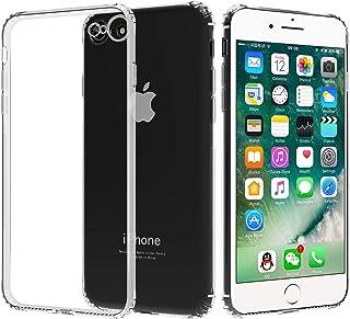 Migeec Funda para iPhone SE 2020 iPhone 7 iPhone 8 Suave TPU Gel Carcasa Anti-Choques Anti-Arañazos Protección a Bordes y ...