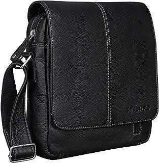 """STILORD Matt"""" Ledertasche Männer klein Vintage Umhängetasche Schultertasche Herrentasche für 9,7 Zoll iPads Tablet Herrenhandtasche Messenger Bag Echtes Leder"""