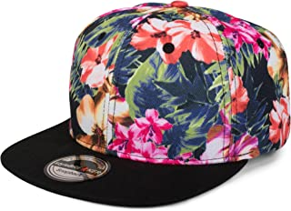 styleBREAKER Snapback Cap mit Blumen Print, Baseball Cap, verstellbar, Unisex 04023047