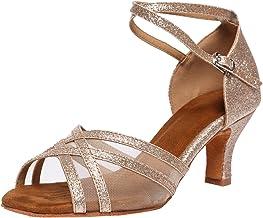 Akanu Women's Latin Dance Shoes Female's Ballroom Salsa Dance Shoes