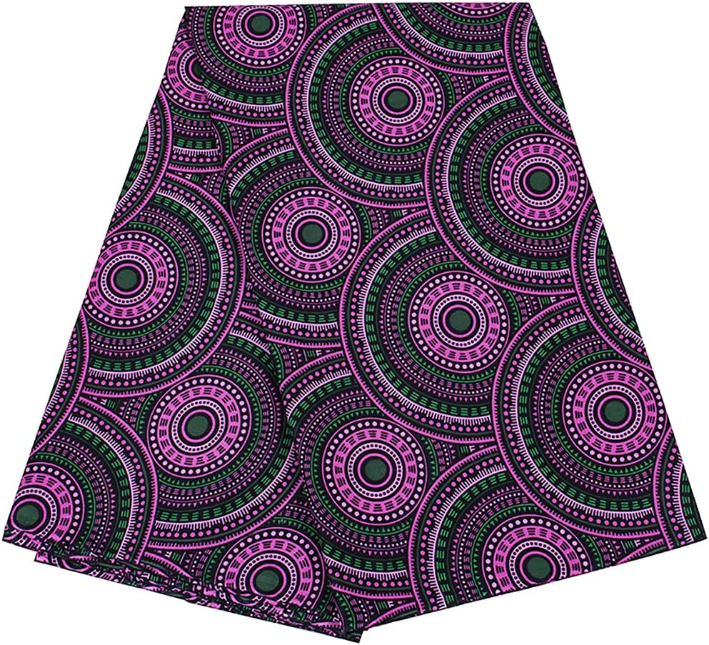 African Fabric Super beauty product restock quality top! 100% Cotton Ankara 6 Fashion Yards Print for Kente