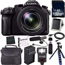 Panasonic Lumix DMC-FZ2500 Digital Camera DMC-FZ2500 (International Model) + Lithium Ion Battery + Charger + 32GB Memory Card + Flexible Tripod + Flash Bundle