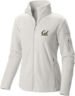 Shop College Wear UC Berkeley Cal Embroidered Women's Columbia Polar Fleece Jacket- White