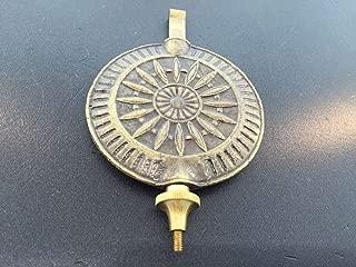 """Sunburst French Clock Pendulum 2 1//8/"""" Diameter Antique Bronze Finish"""