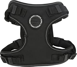 Puppia PLRA-HF9323-BK-M Black Trek Safety Harness F Pet-Vest-Harnesses, MEDIUM