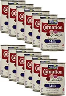 Nestle Carnation Evaporated Milk 12oz (Pack of 12)