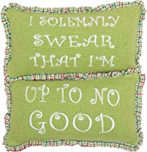 VHC Brands Holiday Throws-Whimsical Christmas Green Up to No Good 7