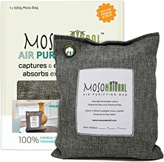 MOSO NATURAL: The Original Air Purifying Bag 500g. for Kitchen, Basement, Bedroom, Family Room. an Unscented, Chemical-Fre...