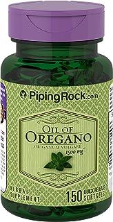 Piping Rock Oil of Oregano Oreganum Vulgare 1500 mg 150 Quick Release Softgels Herbal Supplement