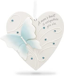 Hallmark Keepsake Christmas Ornament 2018 Year Dated Mom Thanks Heart Butterfly Porcelain