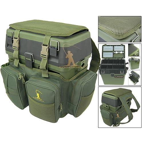 Roddarch Fishing Seat Box & Rucksack Fly Sea Coarse Fishing Seat Backpack.