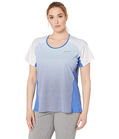 Columbia Plus Size Solar Chilltm 2.0 Short Sleeve Shirt (Arctic Blue) Women