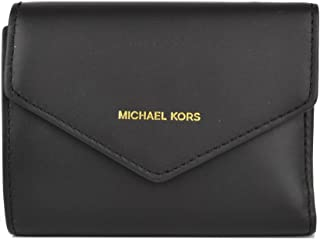 Small Leather Envelope Wallet- Black