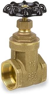 Smith-Cooper International 8501L Series Brass Gate Valve, Potable Water Service, Non-Rising Stem, Inline, 1-1/4
